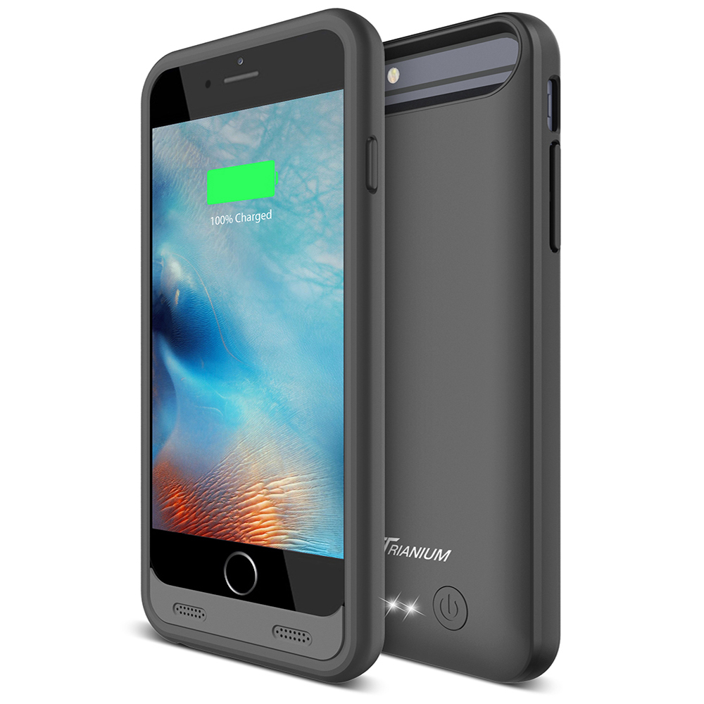 newest 35f38 da774 Atomic S Battery Case for iPhone 6 6S 4.7″ Inche – [ Black / Black]