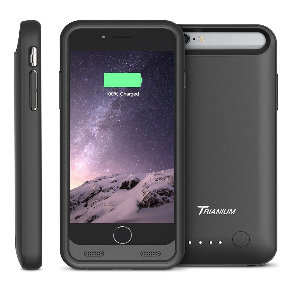 atomic s battery case for iphone 6 4 7 inche black black. Black Bedroom Furniture Sets. Home Design Ideas
