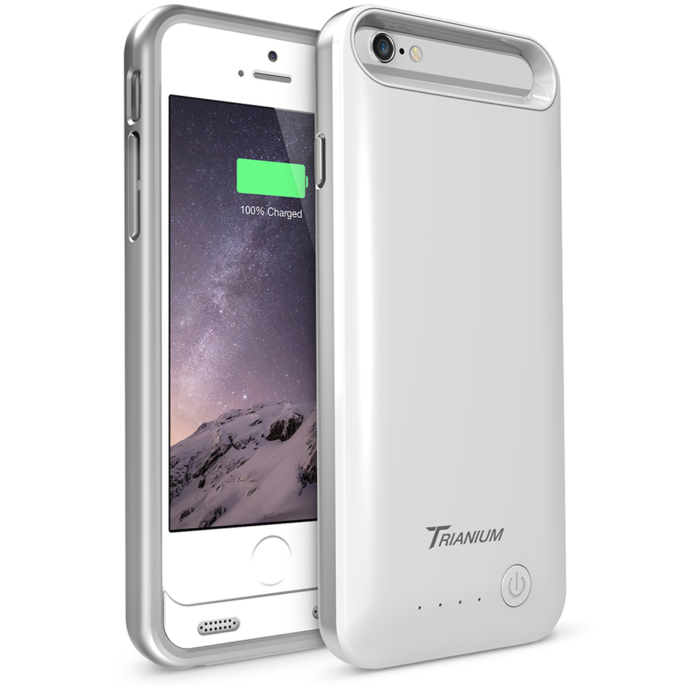promo code 271f9 1c3ac Atomic S Battery Case for iPhone 6 6S 4.7″ – [White / Silver]