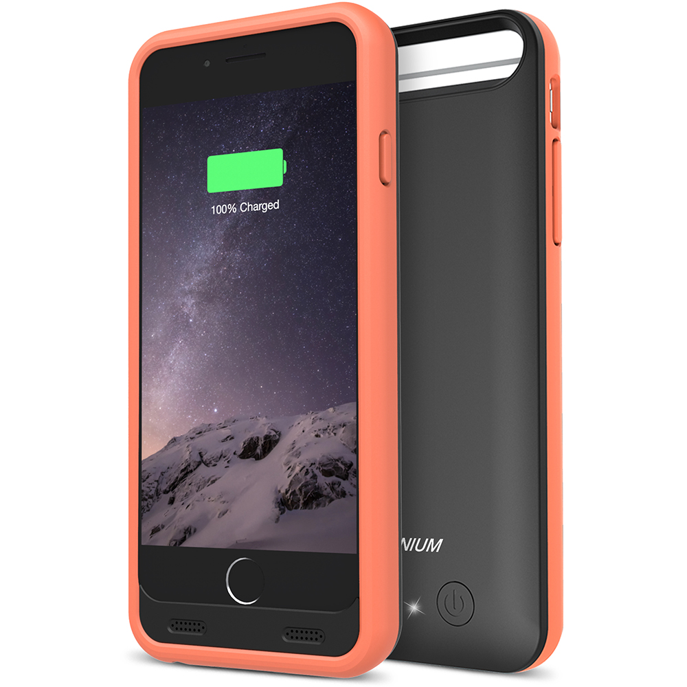 cheap for discount 2d247 b7cd7 Atomic S Battery Case for iPhone 6 6S 4.7 – [Black / Orange]