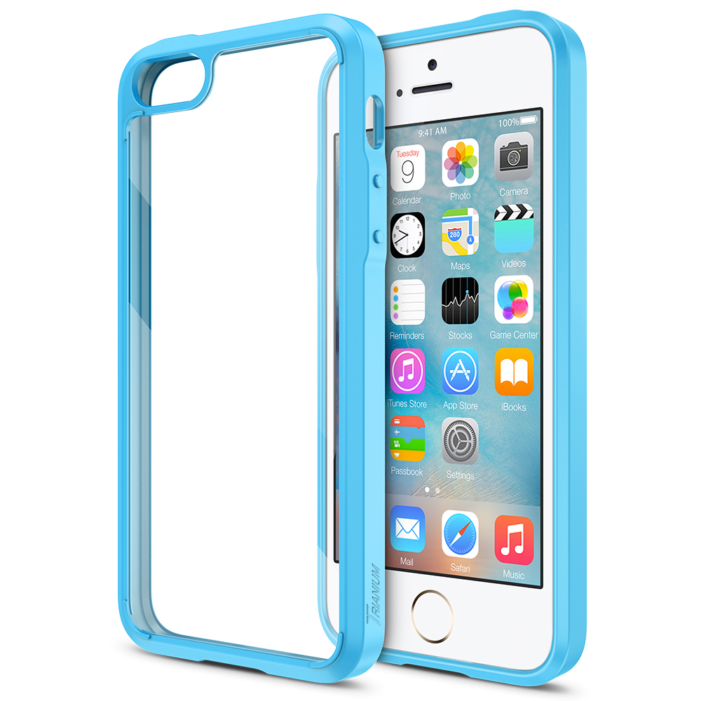 best sneakers 95e16 adc37 Trianium iPhone SE [Clear Cushion] – Blue