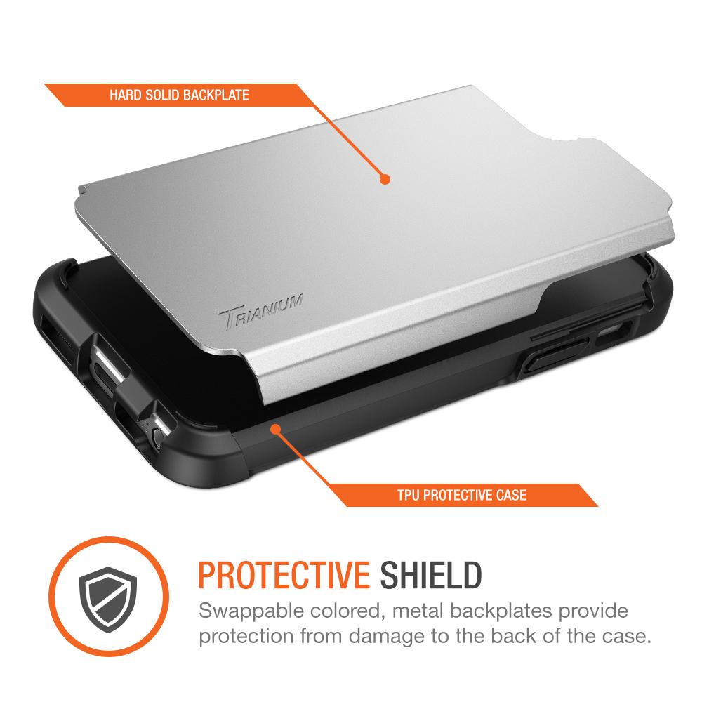 Case Design phone cases from amazon : Trianium [Protak Series] for iPhone SE u0026 iPhone 5s u0026 5- Silver