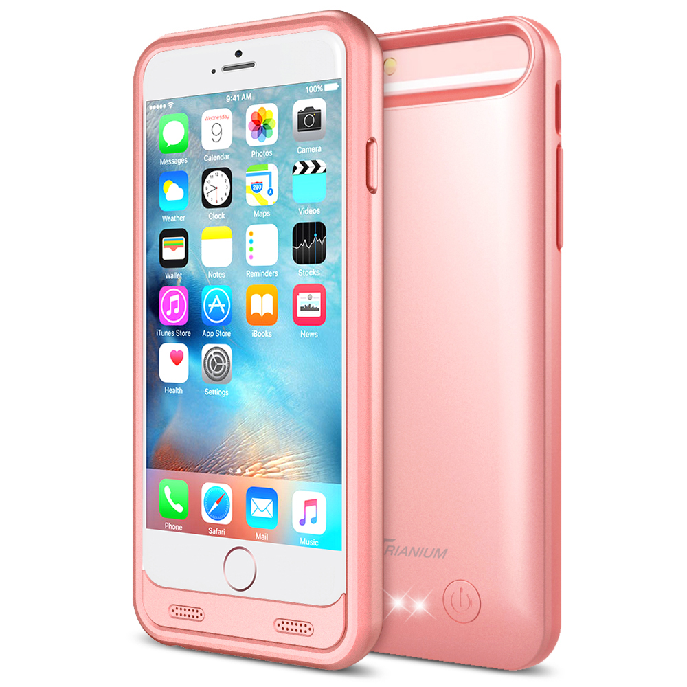low cost 97fe7 039e9 Atomic S Battery Case for iPhone 6 / iPhone 6S 4.7 – [Rose Gold]