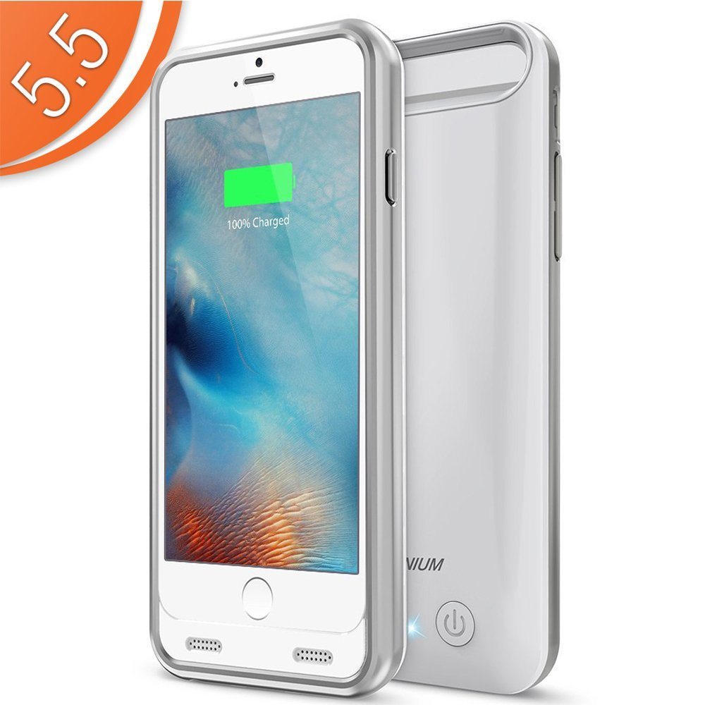 6swhite Silvers: Atomic S Battery Case For IPhone 6 Plus / IPhone 6S Plus 5