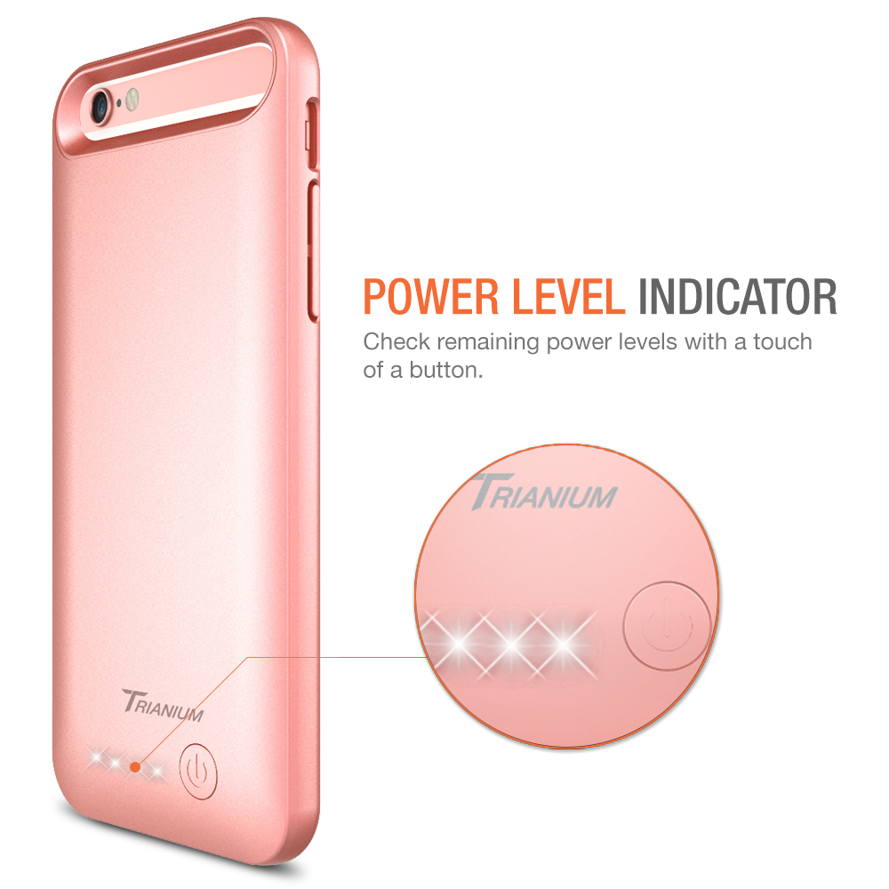 atomic s battery case for iphone 6 iphone 6s 4 7 rose gold. Black Bedroom Furniture Sets. Home Design Ideas