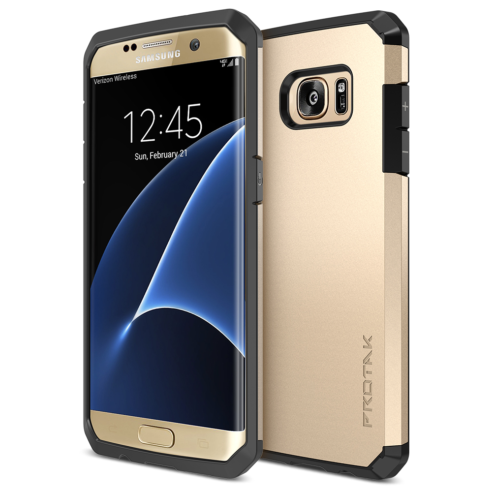 online retailer 5a150 a59e9 Trianium [Protak Series] for Samsung Galaxy S7 Edge- Champagne Gold