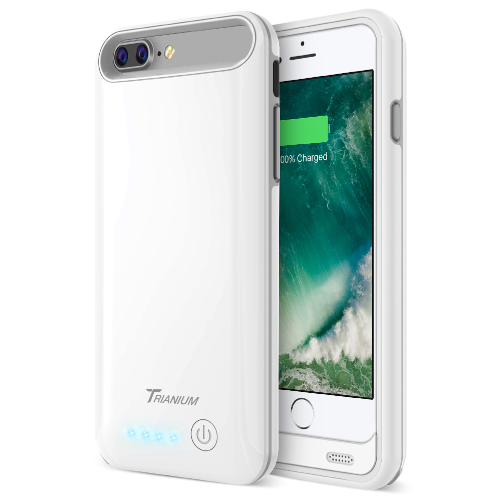 sale retailer 201b5 d0320 Atomic Pro Battery Case for iPhone 7 Plus – White/Grey