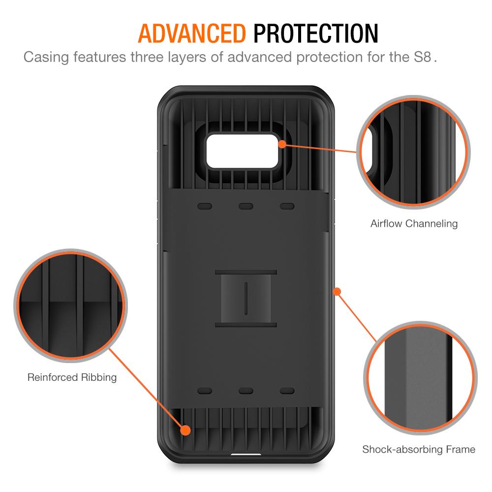 brand new e4f42 a253e Trianium [Walletium Series] Case for Samsung Galaxy s8 – Black