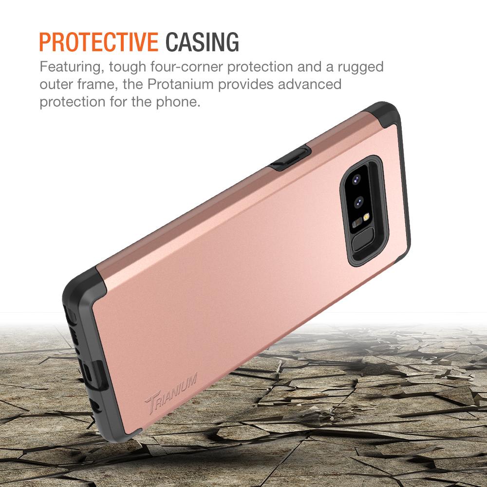 Trianium Protanium Series For Samsung Galaxy Note 8 Rose Gold Goospery S9 New Bumper X Case Black