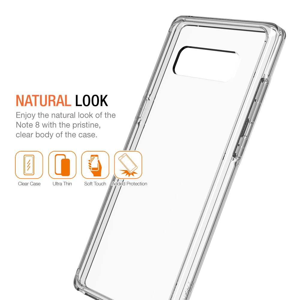 trianium  clarium series  for samsung galaxy note 8  u2013 clear