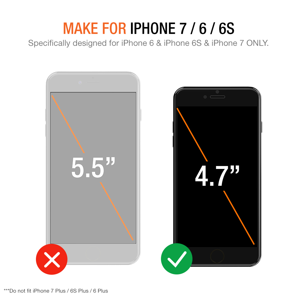 finest selection 89ce6 c1961 Trianium iPhone 8 7 6s 6 (2-Pack) Tempered Glass Screen Protector – [Clear  / White Alignment Frame]