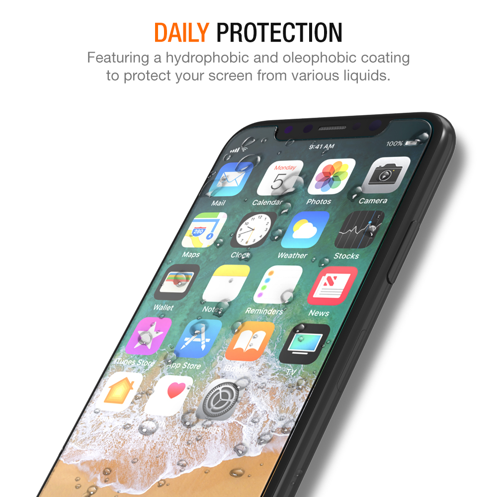 premium selection a0fe2 99fc4 Trianium [3-Pack] Tempered Glass Screen Protector for iPhone X / iPhone XS