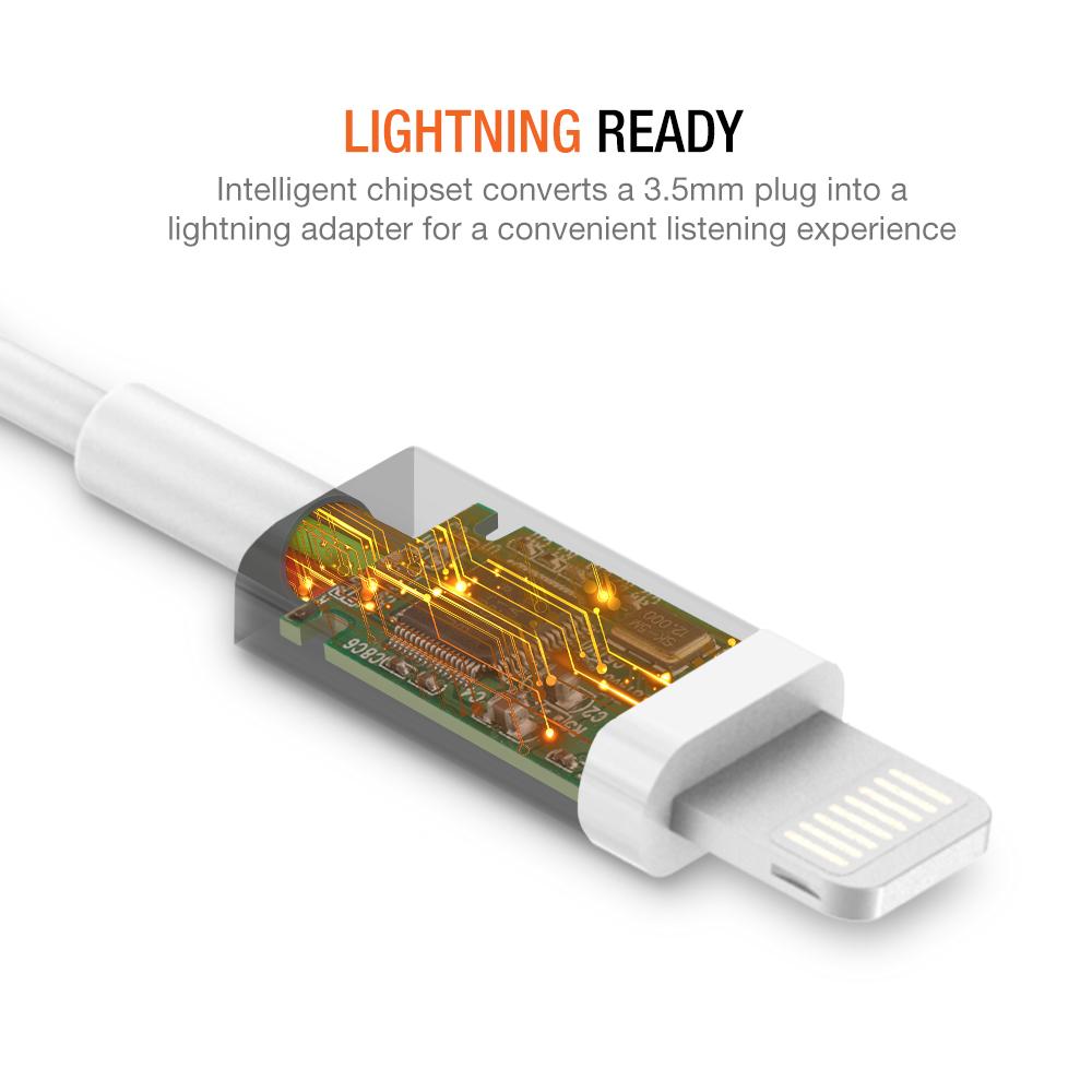 Iphone Lightning To 35mm Headphone Jack Hifi Adapter White Usb Type C 31 Audio Converter