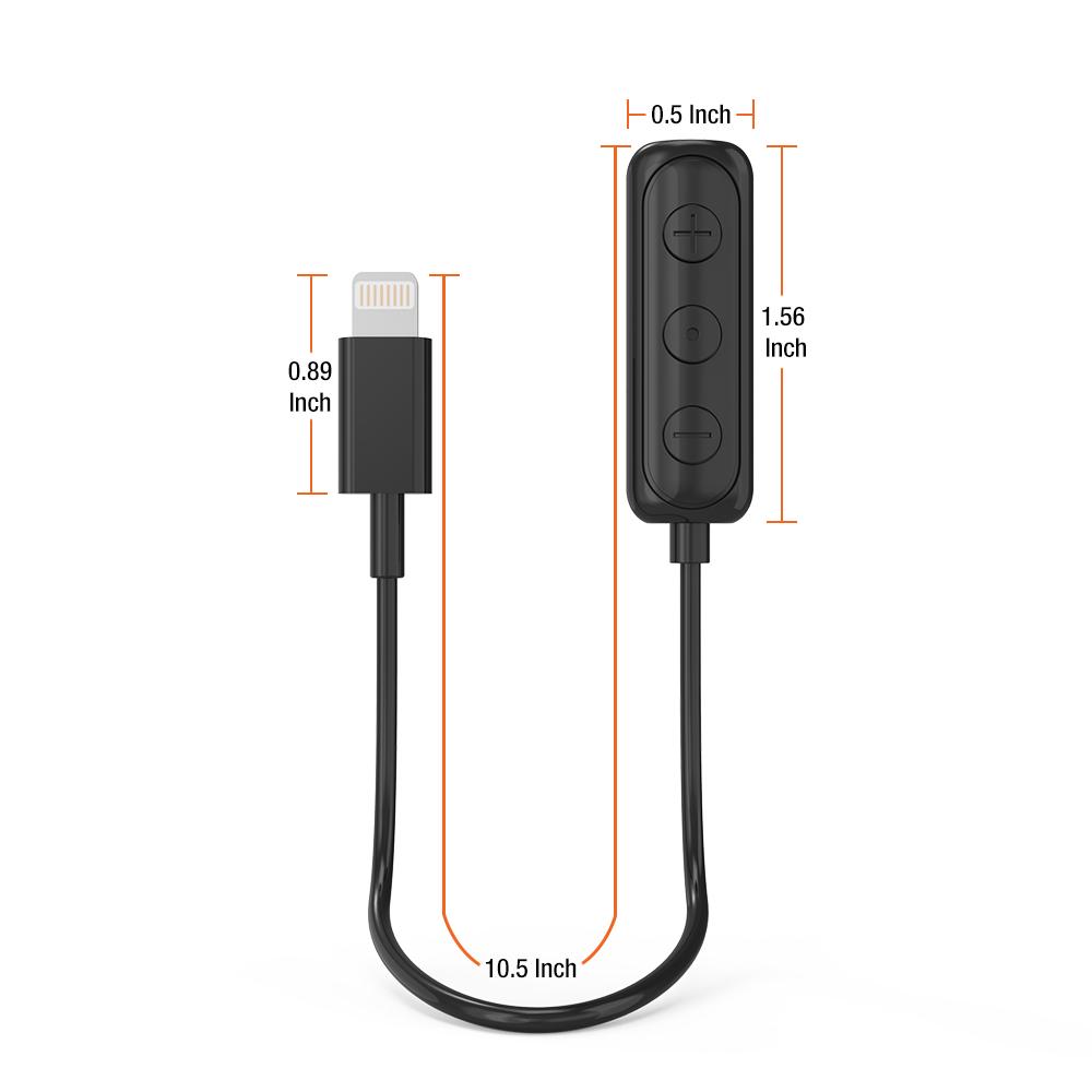 iPhone Lightning to 3 5mm Headphone Jack HIFI Adapter ndash Black
