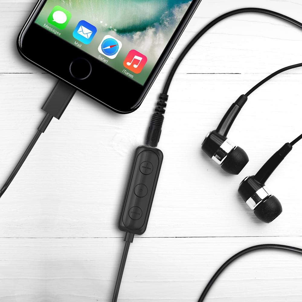 iPhone Lightning to 3 5mm Headphone Jack HIFI Adapter – Black