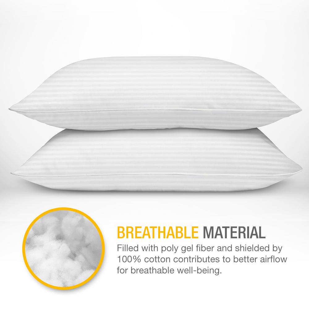 Dreamnorth Premium Gel Pillow Loft Pack Of 2 Luxury