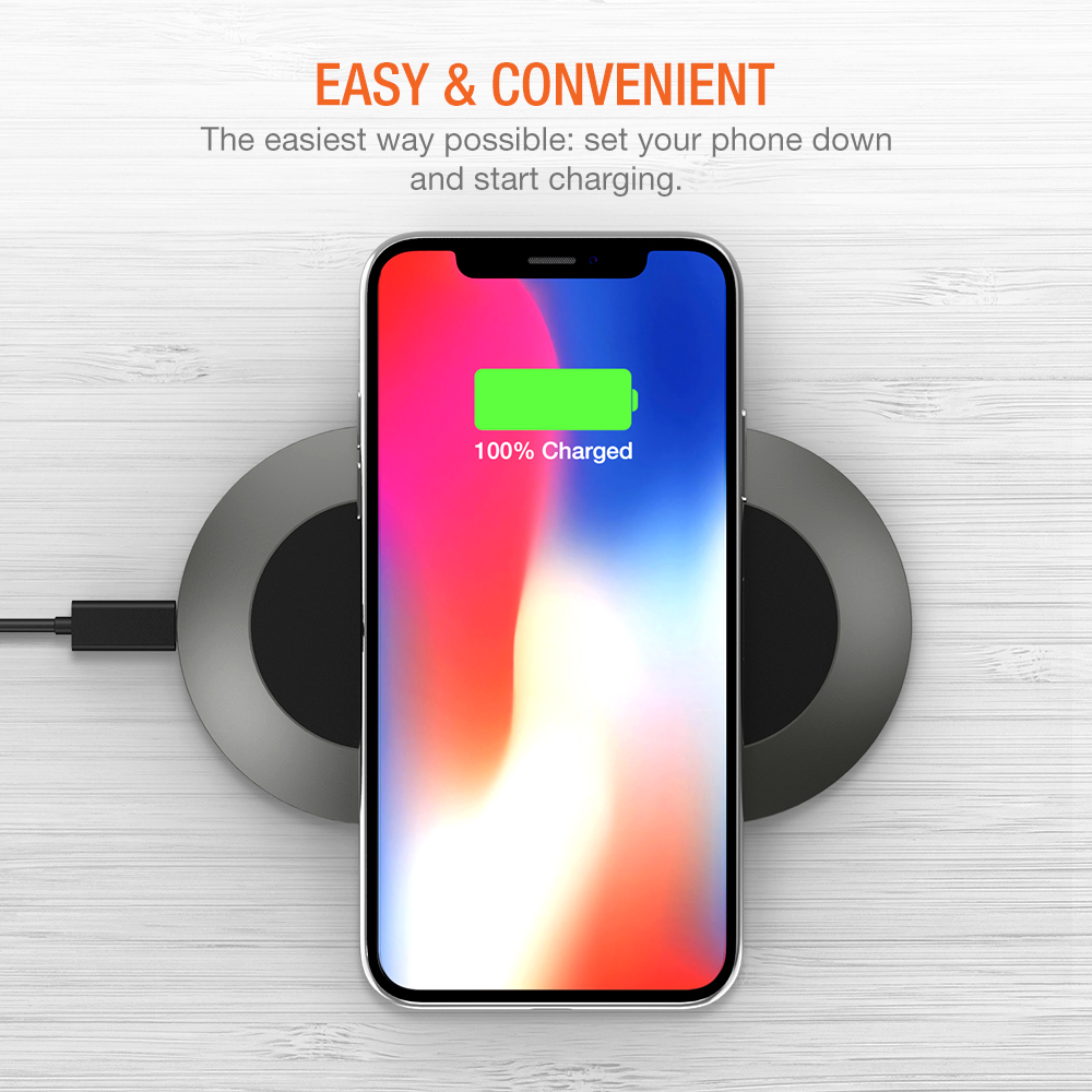 half off 98ffa 46a20 Trianium Wireless Charger Charging Pad for iPhone XS Max / XS / X /iPhone  8/8 Plus, 10W QI Fast Wireless Charger for Samsung Galaxy Note 8, Galaxy ...