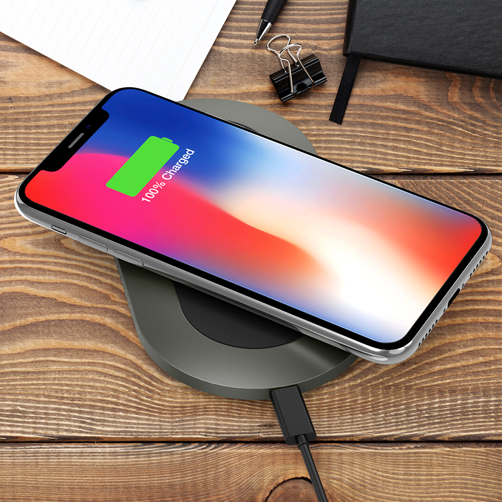 Trianium Wireless Charger Charging Pad for iPhone XS Max / XS / X /iPhone  8/8 Plus, 10W QI Fast Wireless Charger for Samsung Galaxy Note 8, Galaxy