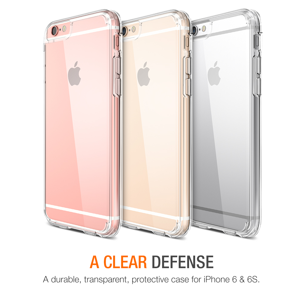 clear iphone cases trianium clear cushion for iphone 6s amp 6 clear 10414